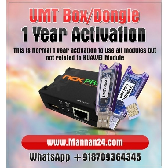 UMT Dongle 1 year Activation